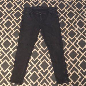 Zara Black Distressed Boyfriend Jeans
